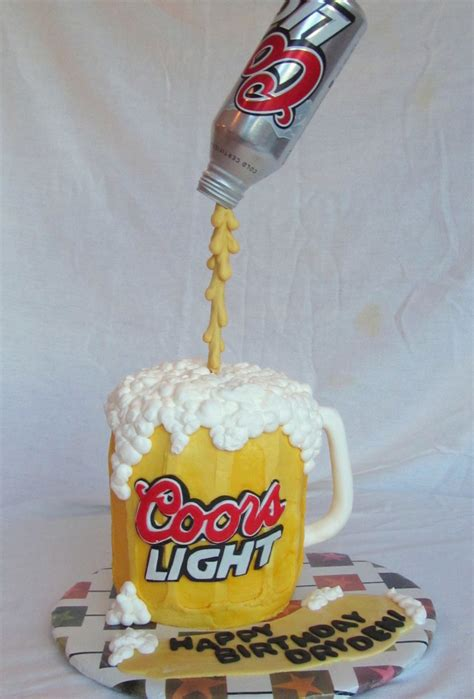 beer can cake coors light pouring beer can cake cakecentral com