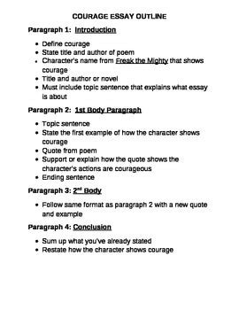 Essay On Courage by Essay On Courage Extended Definition Essay On Courage Worksheet Ayucar