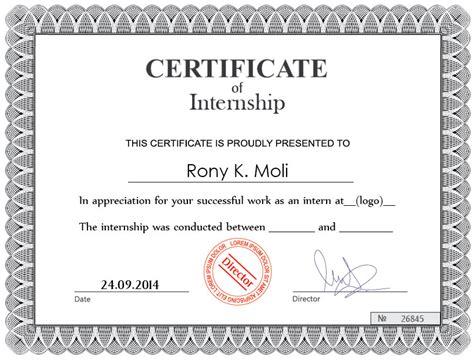 Summer Internship Certificate Format For Mba Hr by Internship Certificate Ideal Vistalist Co