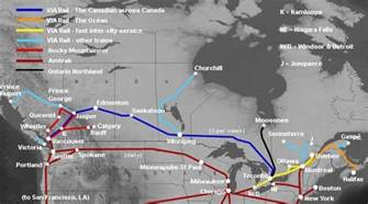 railway map canada travel across canada schedules routes fares