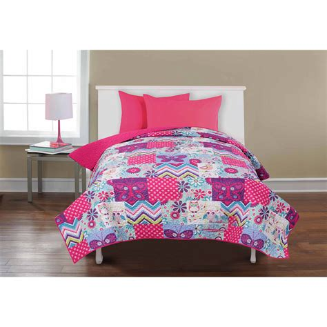walmart kids bedding mainstays kids quilted solid bed in a bag set walmart com