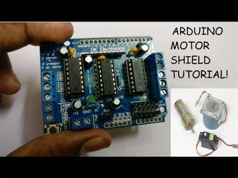 arduino tutorial   motor shield youtube