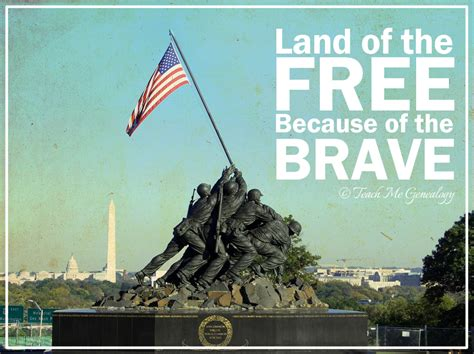 land of the free because of the brave teach me genealogy