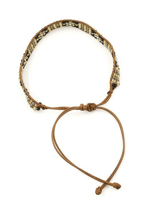 how to tie a bead bracelet wax cord seed bead pull tie bracelet bracelets