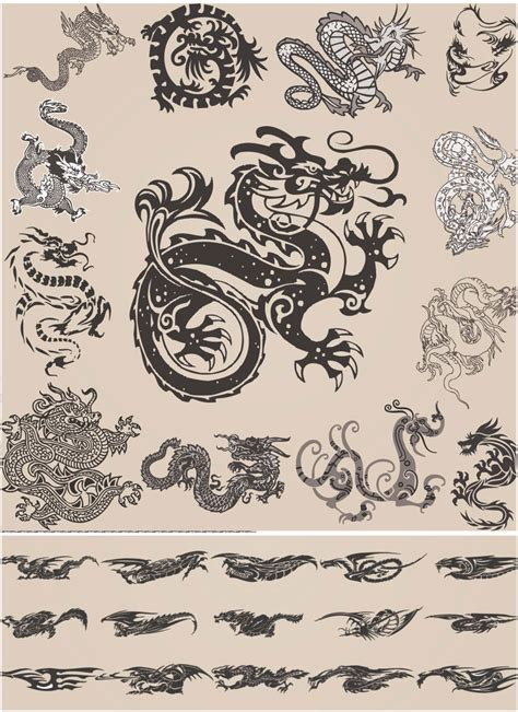chinese dragon tattoo stock vector tattoos vector vector graphics