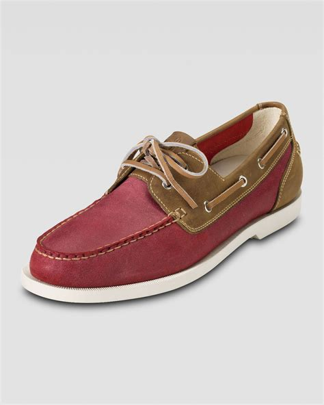 cole haan boat shoes cole haan air yacht club boat shoe in multicolor for men