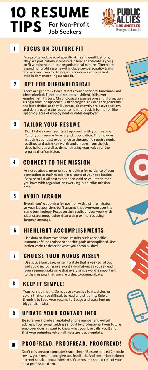 Resume Tips For Seekers Allies Los Angeles