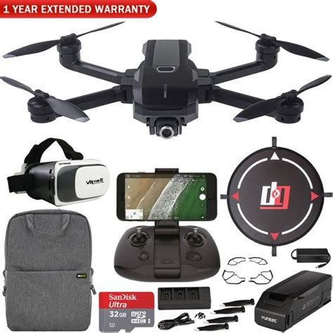 yuneec mantis  foldable drone   uhd camera  wifi remote mobile  kit landing pad vr