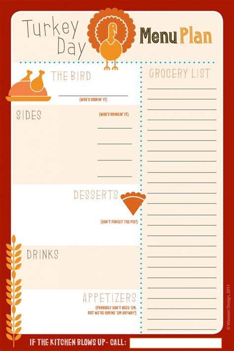 printable menu planner template thanksgiving potluck signup studio design gallery