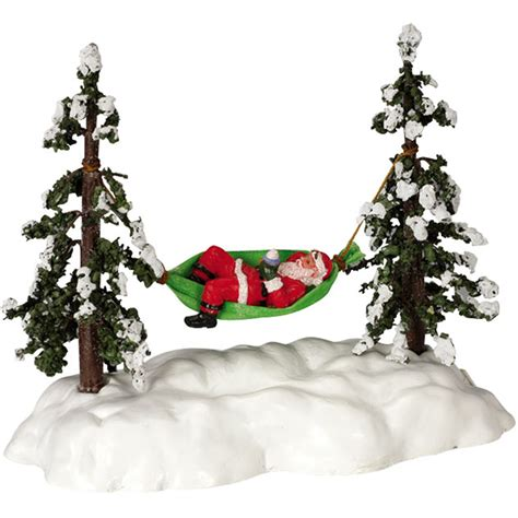 lemax animated swinging santa battery operated
