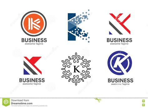 k r design letter k logo set concept stock vector illustration of