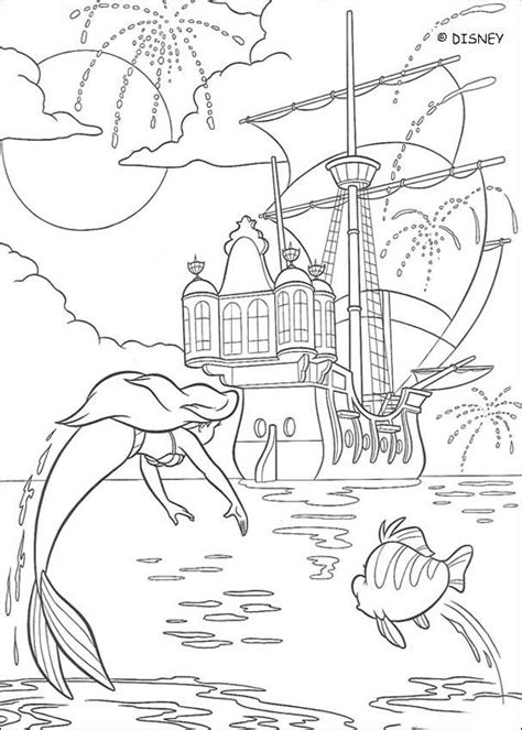 little mermaid castle coloring page fireworks coloring pages hellokids com