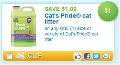 printable coupons for cat food and litter cat s pride cat litter coupon matched up to walmart price