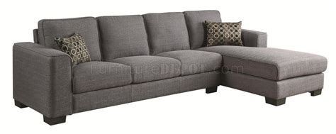 500311 norland sectional sofa by coaster in grey fabric