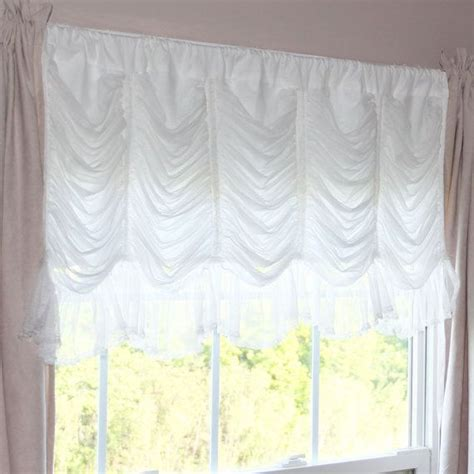 white balloon curtains white ruched ruffle waterfall austrian balloon cafe by