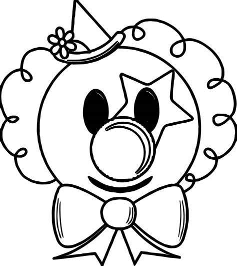 cartoon coloring pages download cartoon clown face coloring page wecoloringpage