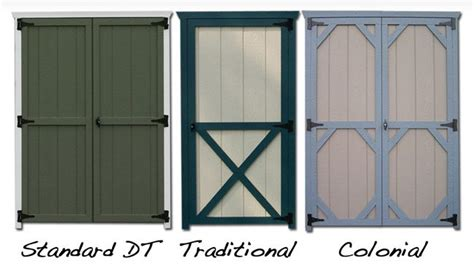 replacement storage shed doors in wood or raised panel
