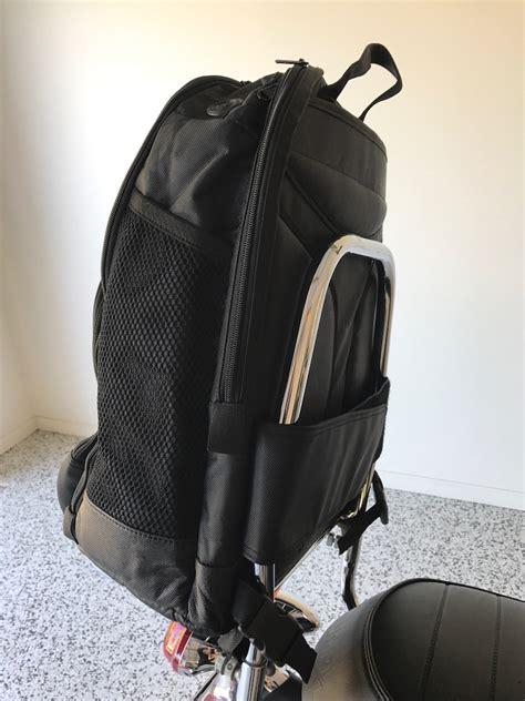do you prefer a backpack or sissy bar bag motorbike writer