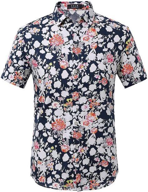 Dress Casual Custom Keren Motif Floral Limited Edtion flower print mens shirt custom shirt