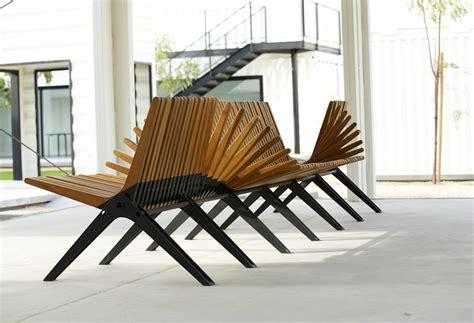 designboom benches anna szonyi fans boomerang bench for the dubai design district