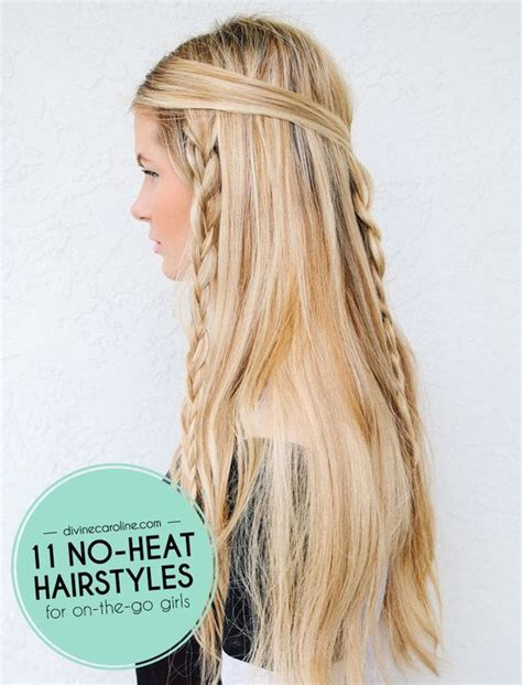 hairstyles no heat 11 no heat hairstyles for the girl on the go girls