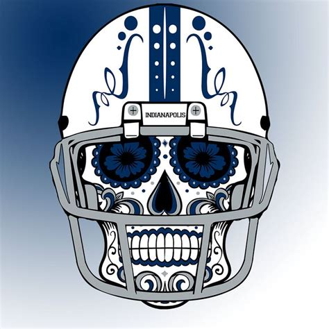 colts tattoo designs indianapolis colts custom nfl sugar skull calavera