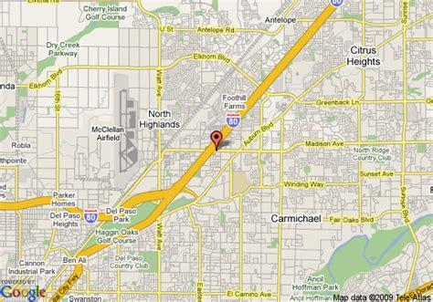 california map la quinta map of la quinta inn sacramento sacramento