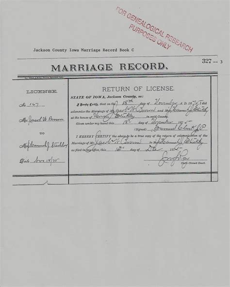 Brown County Marriage Records Marriage Record