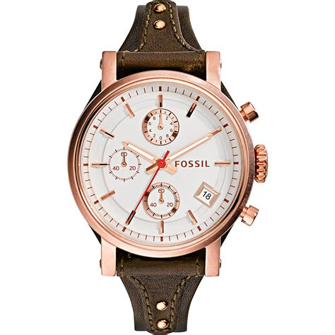 fossil s es3616 original boyfriend chronograph brown
