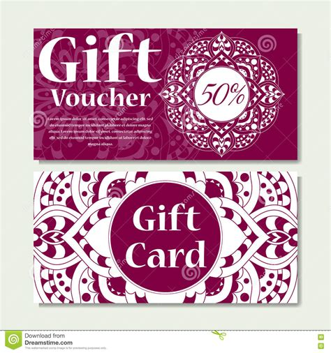 ignitewoo gift create gift card template gift voucher template with mandala design certificate for