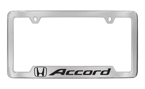 chrome accord license plate frames 20 w free shipping