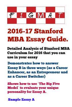 Http Www Mba Mypurchases by Sle Stanford Mba Essay A What Matters Most To You And