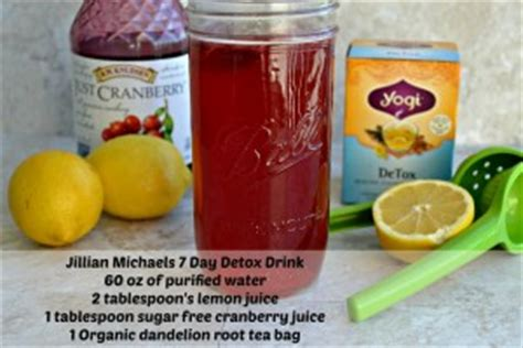 Stimulants During Juicing Detox by 7 Day Detox Drink Recipe As Recommended By Jillian