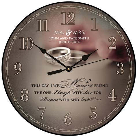 personalized wedding wall clock gift for wedding or