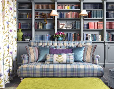 fabrics and home interiors snuggle up with plaid in your home