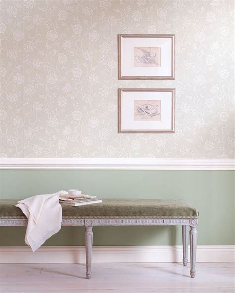 Wallpaper Above Or Below Dado Rail dado rail with wallpaper above and duck egg blue paint