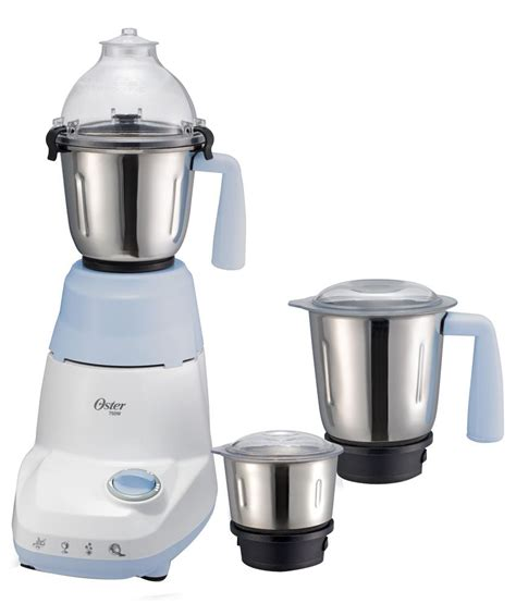 Mixer Grande oster 3 jar 750 w mixer grinder 6021 white blue price in india buy oster 3 jar 750 w mixer
