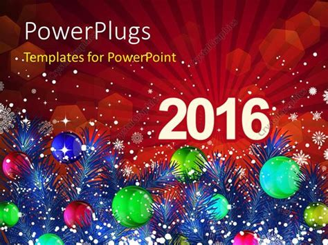 new year powerpoint template 2016 powerpoint template new year 2016 with decoration of