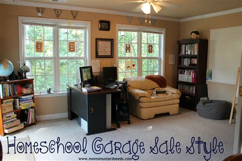 Homeschool Desks For Sale by Homeschool Classroom Garage Sale Style S Mustard Seeds
