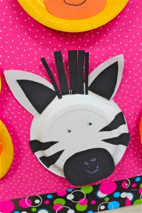 Zebra Paper Plate Craft - paper plate zebra paper plate crafts for children can