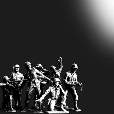 Digitec Army Blackwhite plastic army battalion black and white painting by tony rubino