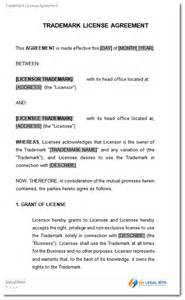 brand licensing agreement template trademark license licensing agreement template