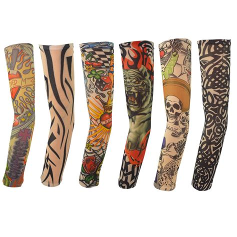 fake tribal tattoo sleeves assorted ink sleeve one size