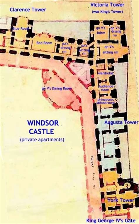 floor plan of windsor castle windsor castle partial floor plan castles and palaces