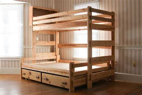 twin  full bunk bed plans designs  bed bed plans