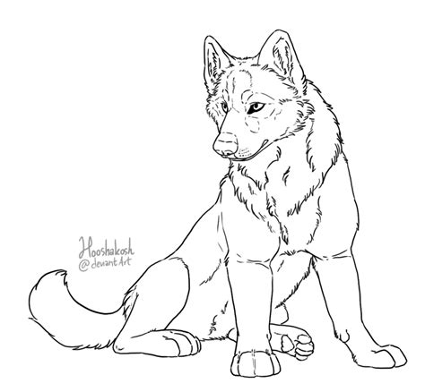 wolf pup free colouring pages