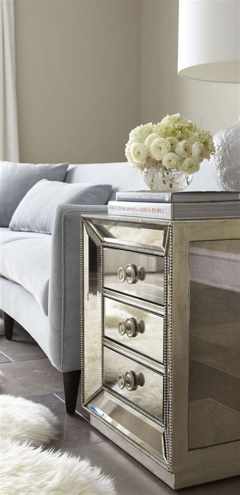 mirror side tables bedroom mirrored side tables with drawers target mirrored