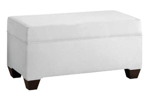 White Upholstered Storage Bench Skyline Furniture Velvet Upholstered Storage Bench White