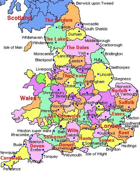 uk map showing counties cities and towns search