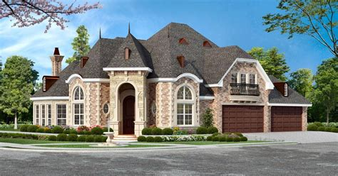 luxury house front design archival designs luxury house plan horseshoe bay front rendering